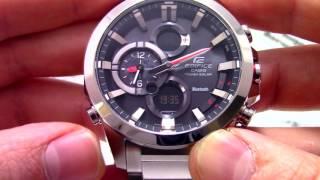 Часы Casio Edifice ECB-500D-1A [ECB-500D-1AER] - Инструкция, как настроить от PresidentWatches.Ru -
