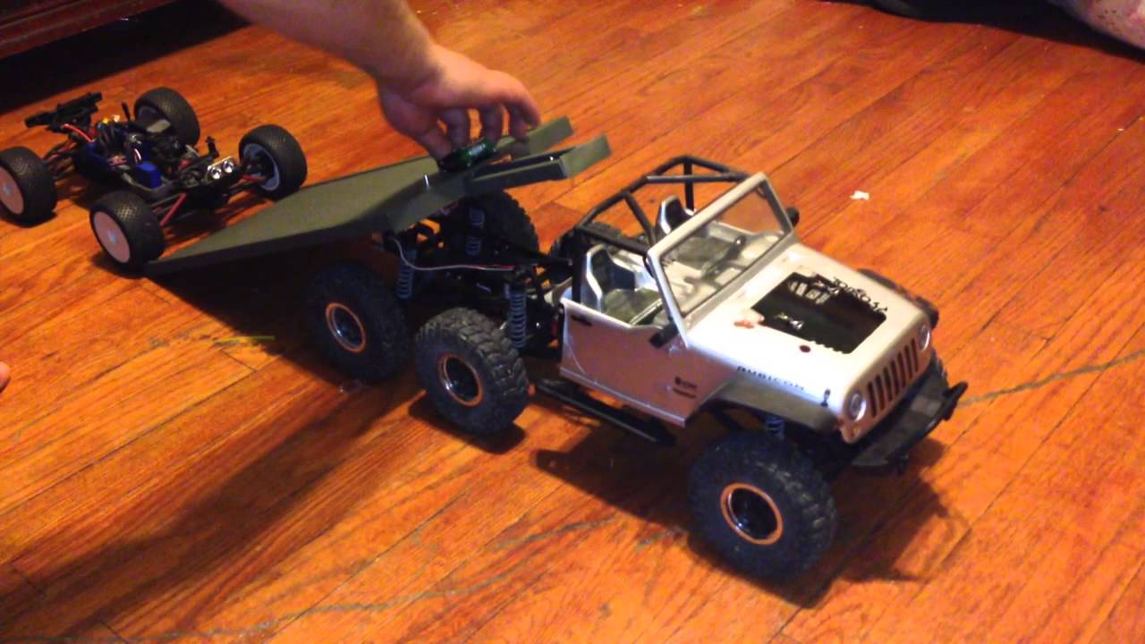 Flatbed Tow Truck >> AXIAL SCX10 JEEP FLATBED TOW TRUCK - YouTube