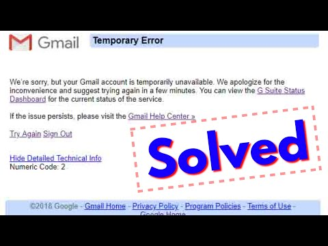 Fix Gmail Temporary Error-Try Again Sign Out