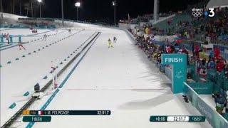 JO 2018 : Biathlon - Martin Fourcade s'adjuge le titre olympique de la poursuite