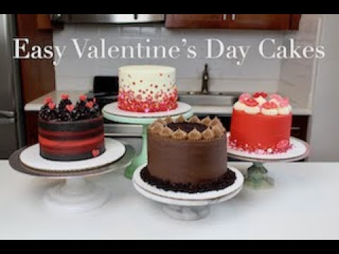 Easy Valentine S Day Cake Ideas Chelsweets Youtube