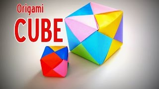 Origami - How to make a colourful CUBE