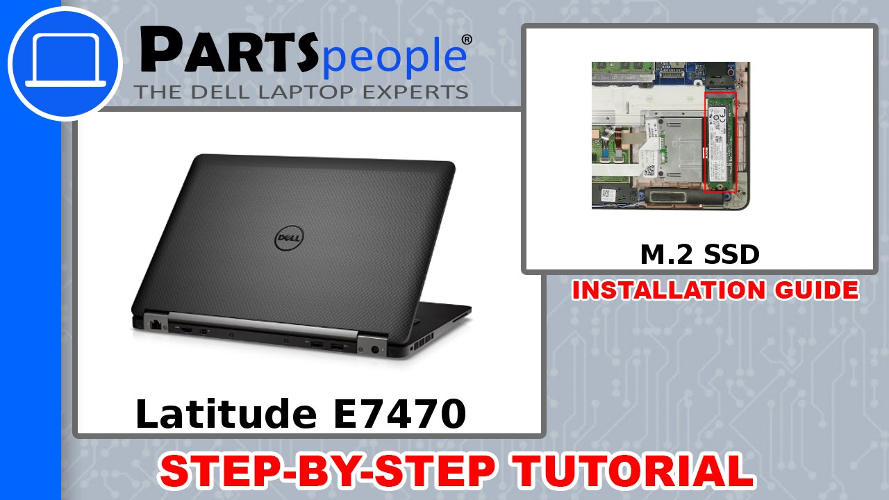 e424d6c2064 Dell Latitude E7470 (P61G001) M.2 SSD How-To Video Tutorial - YouTube