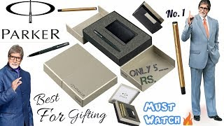 Parker Vector Stainless Steel Trim Roller Ball Pen and Ball Pen Luxury Gift Set Full review