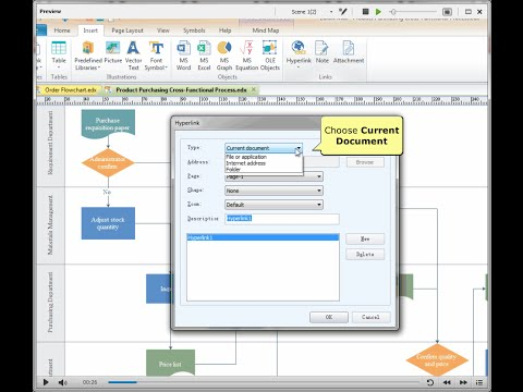 how to add hyperlinks to a shape - Microsoft Visio Manual