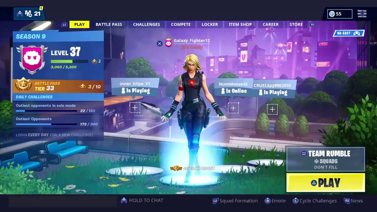 Fortnite Season 9 Team Rumble and Unvaulted