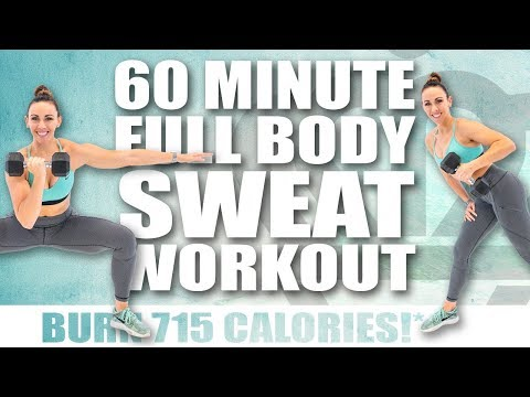 60 Minute FULL BODY SWEAT WORKOUT 🔥BURN 715 CALORIES!* 🔥with Sydney Cummings