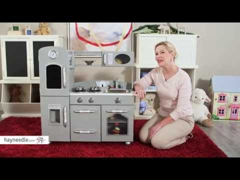 Teamson Kids 2 pc. Classic Wooden Play Kitchen Set-Gray - Product Review Video