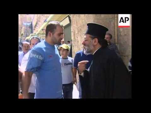 Greek Orthodox Patriarch tries to seize church compound