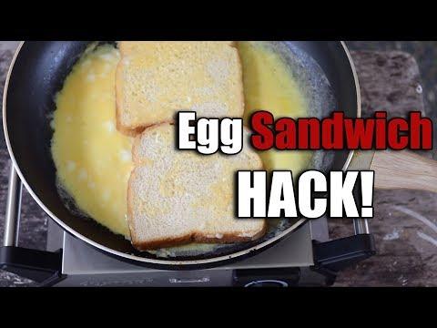 Egg Sandwich Hack Fast & Easy Breakfast