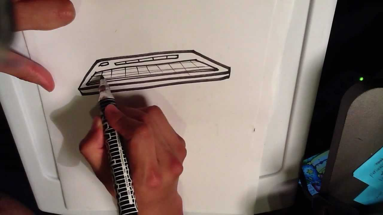 How To Draw A Keyboard Easy Things To Draw Youtube