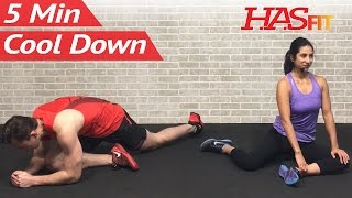 5 Minute Cool Down Exercises After Workout - Cool Down Stretch to Improve Flexibility Stretches