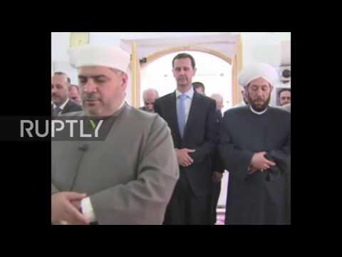 Syria: President Assad gives Eid prayers in Hama