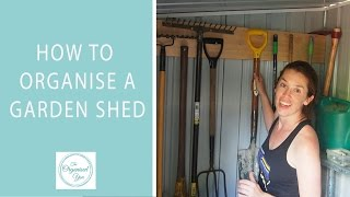 How To Organise A Garden Shed