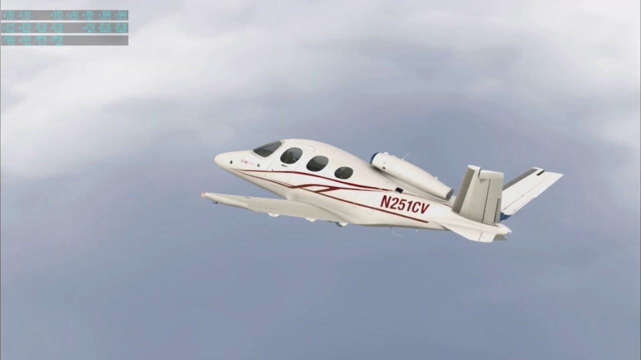 X-Plane 11.4 on 3D volumetric clouds - YouTube