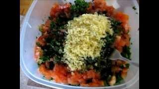 How To Make Healthy Lebanese Salad Taboule  Aka Tabouli, Tabbouleh.