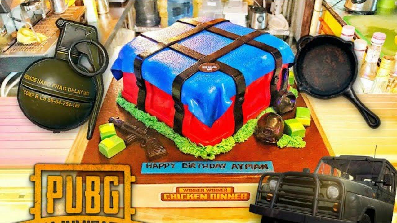 Pubg Cake Lover Birthday Cake Level 3 Helmet Pubg Cake Youtube