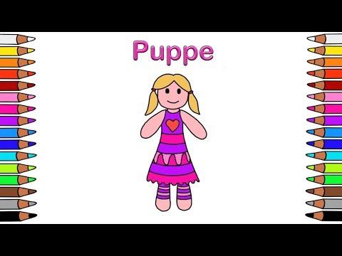Ausmalbilder für Kinder 🎨 Malbuch für Kinder 🌼 Malen für Kinder 🌼 Ausmalbilder🌼 Puppe
