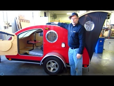 Teardrop Trailer Vistabule FACTORY VISIT