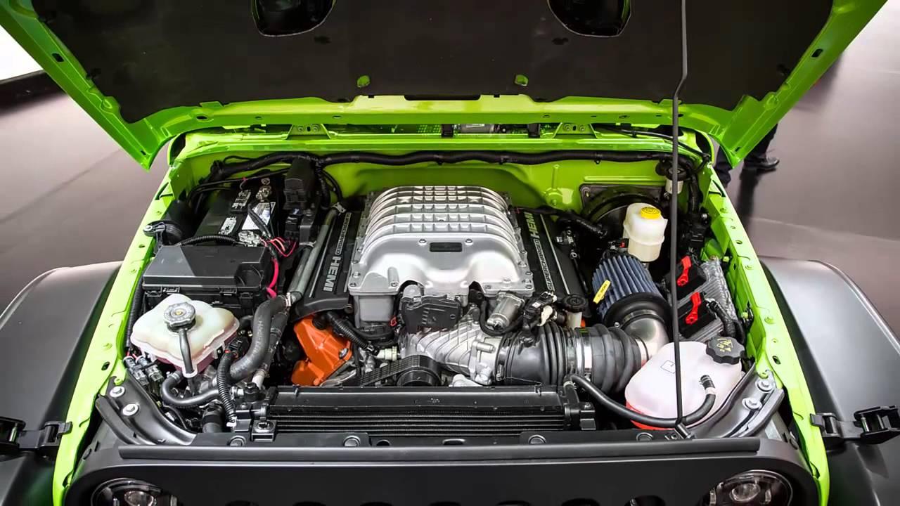 Jeep Wrangler Supercharger V 8 Hellcat Engine