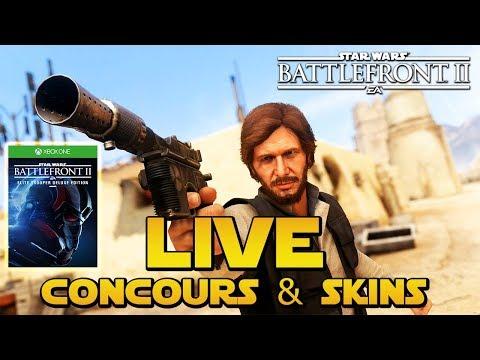 Débloquons le Skin de Han Solo Barbu + Concours Battlefront 2 Xbox One | LIVE BFFR SWBFII
