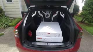 Tesla Model X All-Weather Floor Mats install