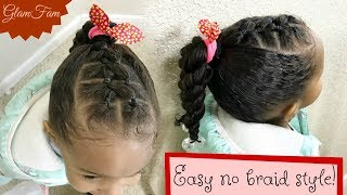 Easy Kids Hairstyle with NO BRAIDS | Braidless Kids Styles