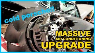 Vintage Porsche 911 AC Upgrade  Part 1 - Beefy Alternator & 2nd Condenser for the Classic Retrofit!