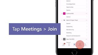 Join a meeting on the go in Microsoft Teams