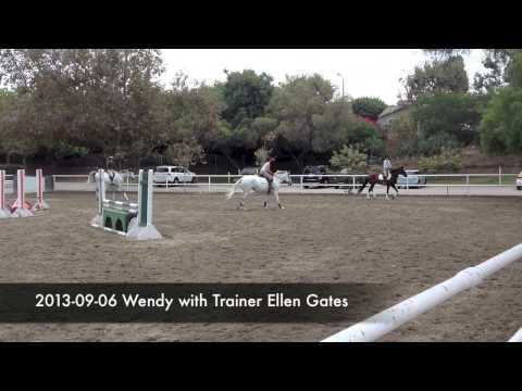 2013-09-06 Wendy with Trainer Ellen Gates
