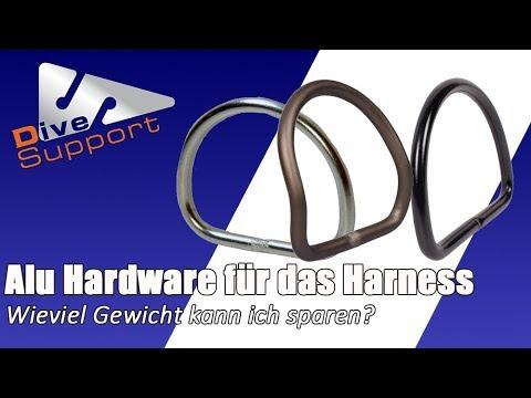 Wieviel Gewicht kann ich mit Alu-Hardware am Harness sparen? | DiveSupport