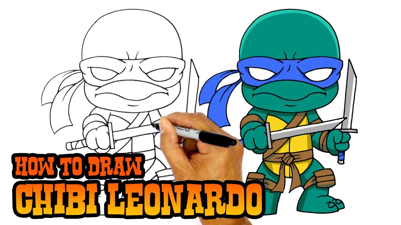 How to Draw Leonardo Teenage