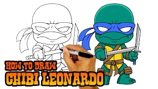 How to Draw Leonardo | Teenage Mutant Ninja Turtles