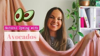 Dyeing with Avocado Pits | How to Dye Fabric Pink with Avocados | Natural Dyeing Tutorial