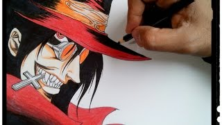 Desenhando Alucard - Hellsing
