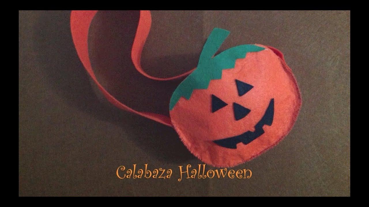 C mo hacer bolsas de caramelos calabaza halloween how to make halloween pumpkin candy bag youtube - Como hacer calabazas de halloween ...