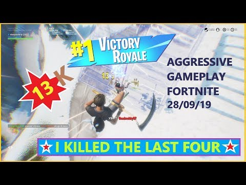 13 KILLS / AGGRESSIVE FORTNITE GAMEPLAY / TOP1 / PS4 / 28.09.19 / ФОРТНАЙТ / NO COMMENTARY
