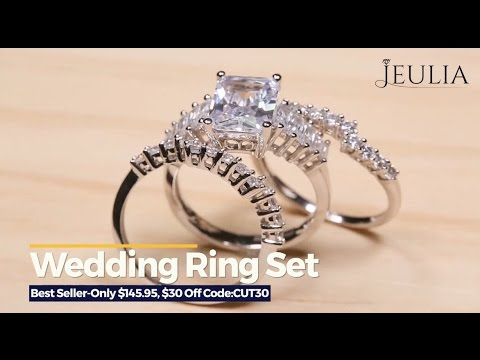 Jeulia wedding rings sets show Jeulia Jewelry YouTube