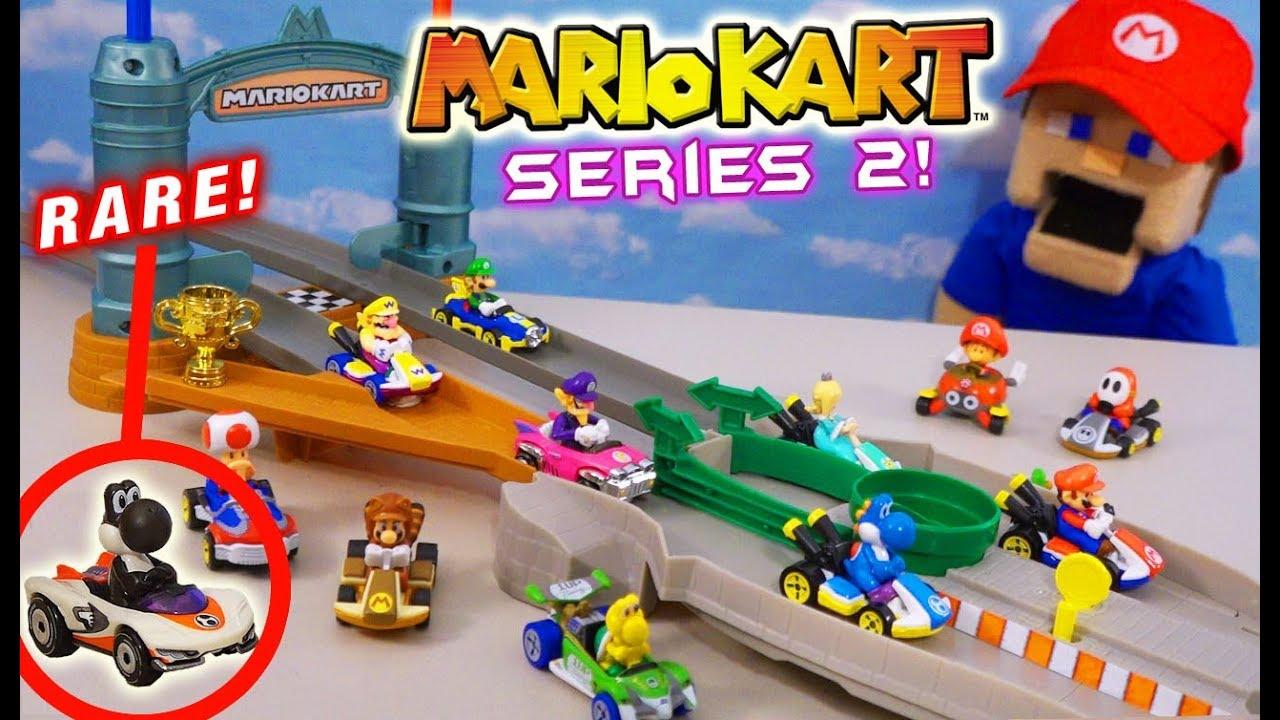Mario Kart Hot Wheels Series 2 Rare Black Yoshi Racing Gift Pack Unboxing Youtube