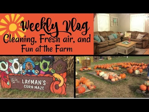 Cleaning // Fresh Air // Fun at the Farm  // Weekly Vlog