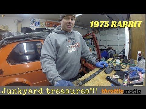 Junkyard treasures and more seat action! 1975 VW Rabbit rebuild Ep. #3