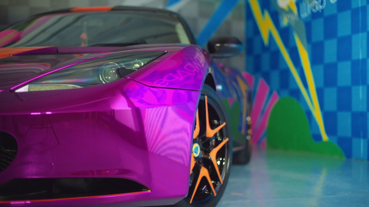Lotus Evora Purple Chrome Wrap