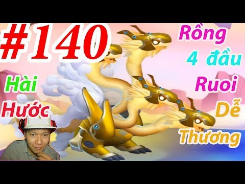 High Celestial Dragon Rồng Cấp H 4 Đầu Dragon City HNT chơi game Nông Trại Rồng HNT Channel New 139