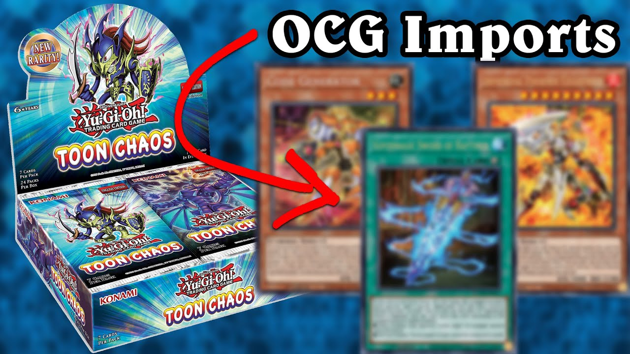 Toon Chaos OCG Imports Revealed | Toon Chaos Booster Box Reveal!