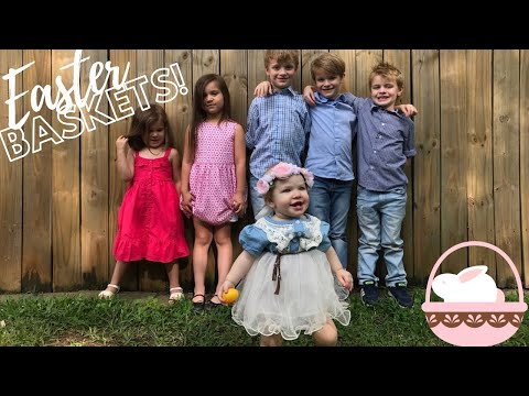 WHAT'S IN MY KIDS' EASTER BASKETS 2018 | Dollar Spot + April Fools Day Easter
