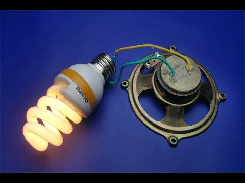 Electric 2019 Free Energy Generator 100%  Running With Speaker