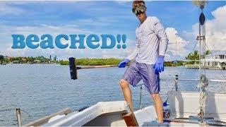 I beached my sailboat & Fixed my Motor