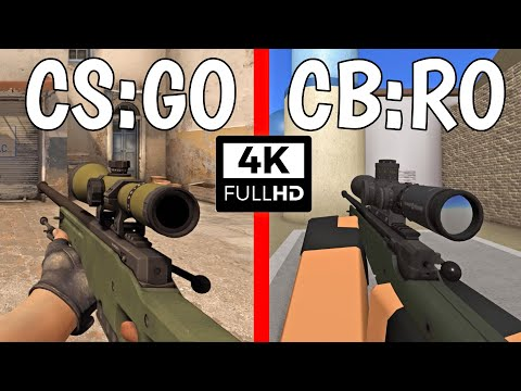 CS:GO Vs. CB:RO - Weapons Comparison 4K 60FPS