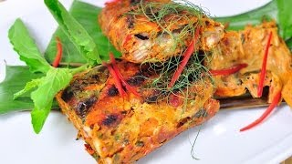 Thai Dessert - Rustic Curried Cat Fish Grilled In Banana Leaves (ping Ngob)