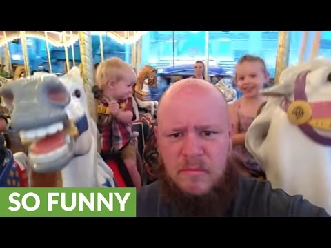 """Dad is having a """"great time"""" at Walt Disney World"""